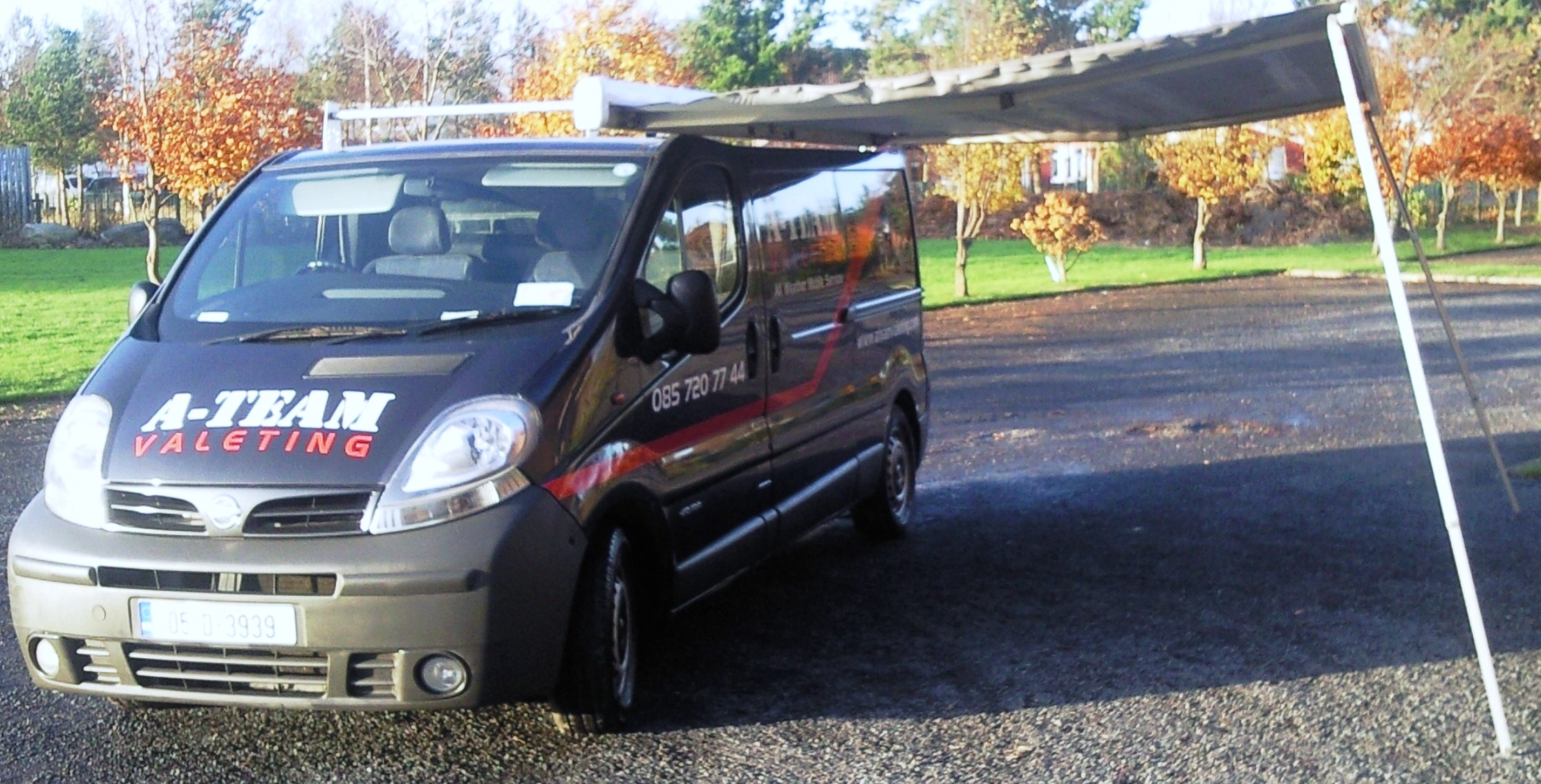 A Team Valeting Car Service Dublin Black Van Side With Canopy Open